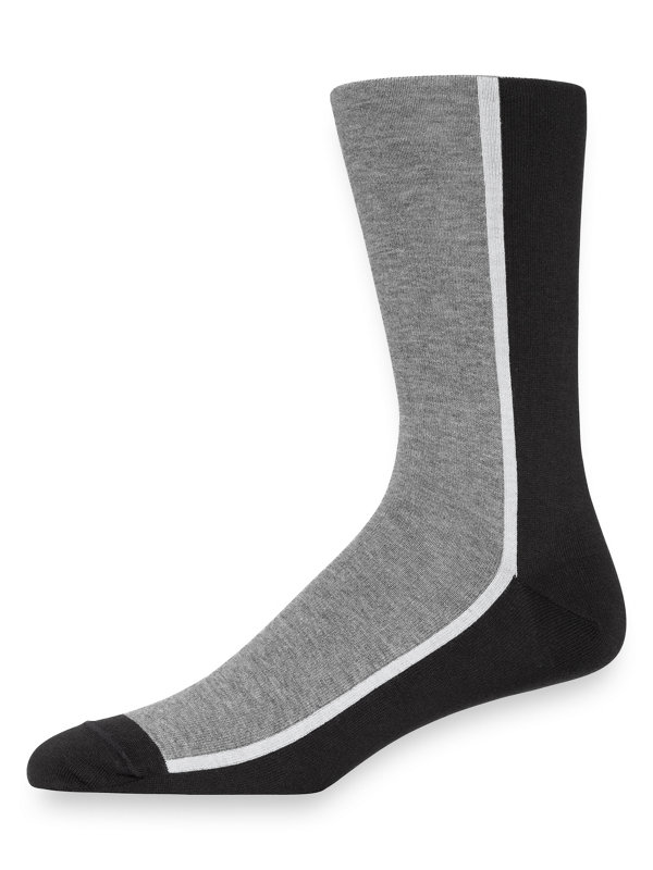 Pima Cotton Color Blocks Socks