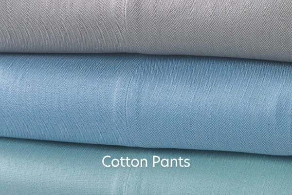 Cotton Herringbone Pants