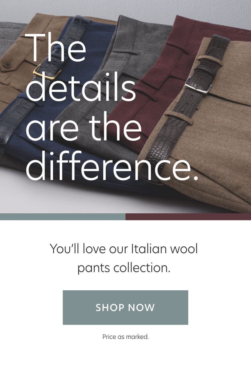 Holiday Italian Wool Pants