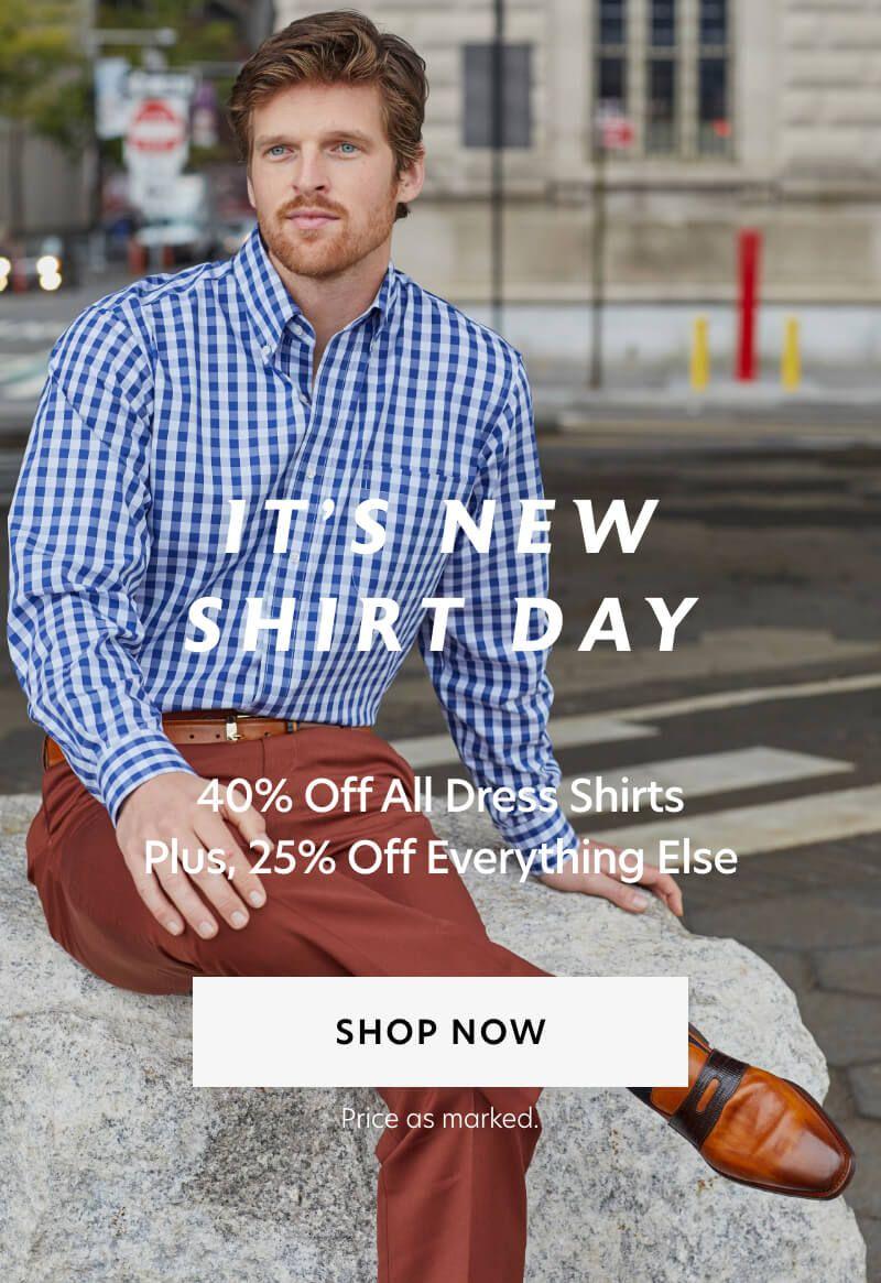 40% Off Dress Shirts