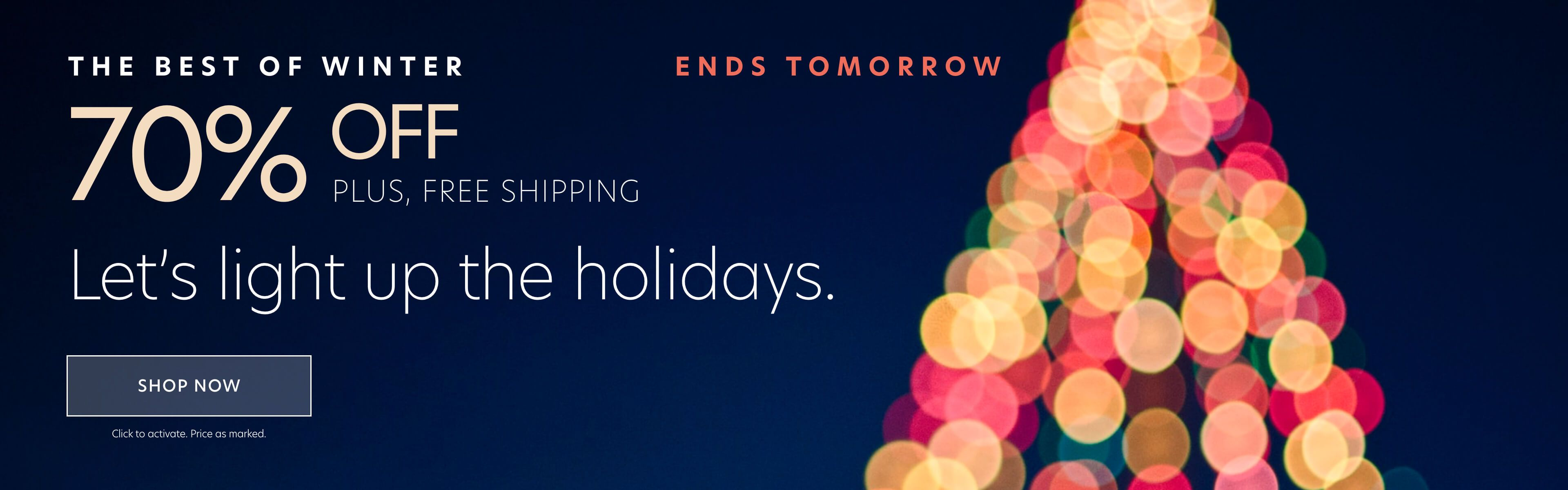 70% Off Best of Winter + 40% Off Everything Else + Free Shipping