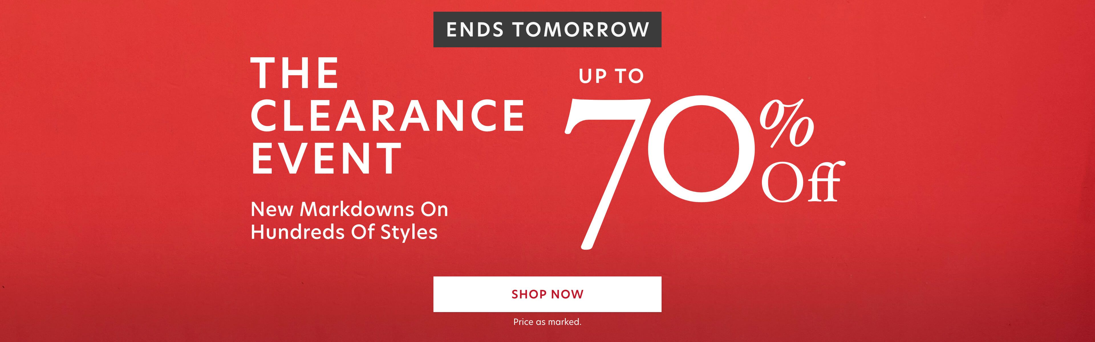 Clearance Blowout Sale