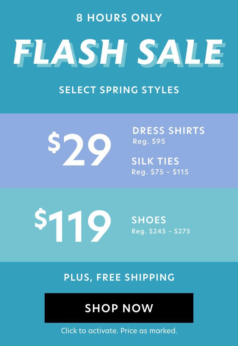 Flash Sale: $29 Shirts & Ties, $119 Shoes + Free Shipping