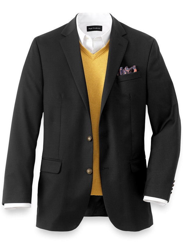 Tailored Fit Wool Travel Blazer