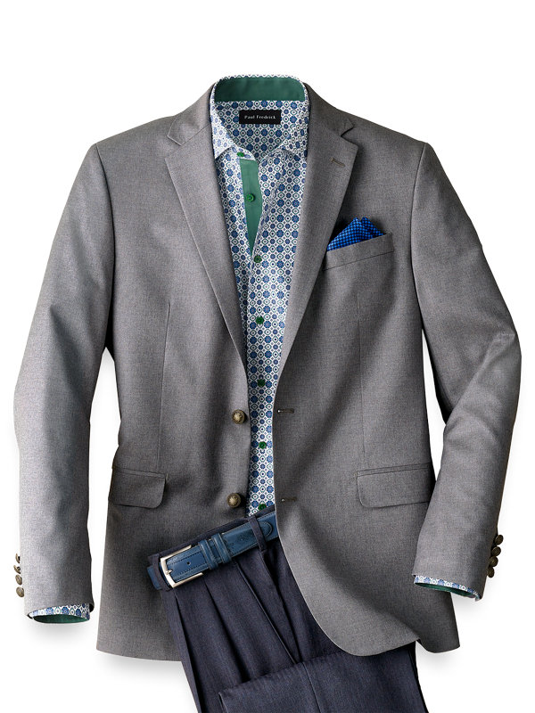 Tailored Fit Wool Travel Blazer