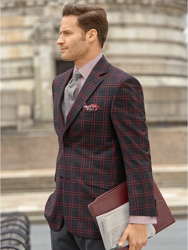 Wool Plaid Sport Coat