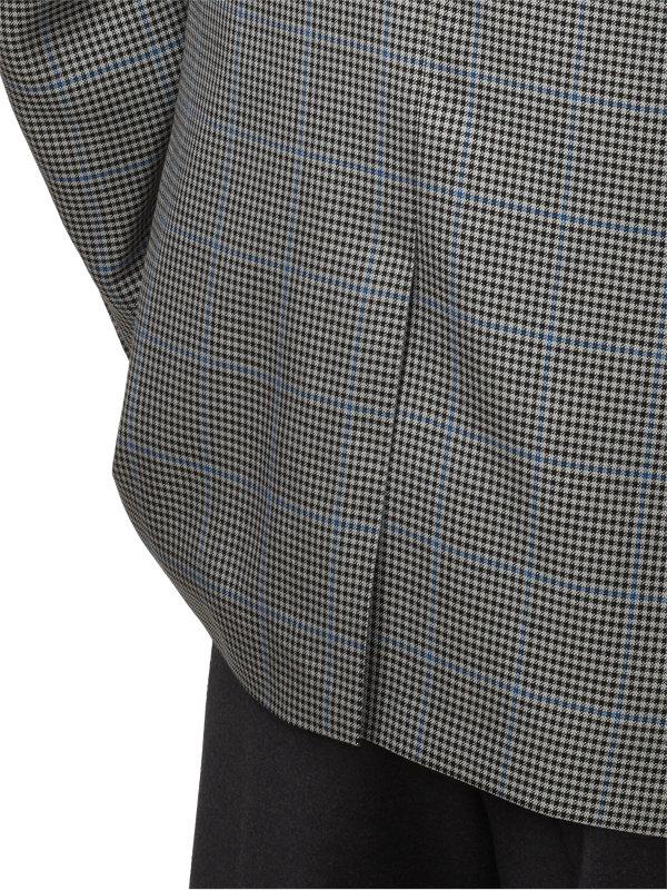 Classic Fit Check with Windowpane Silk & Wool Notch Lapel Sport Coat