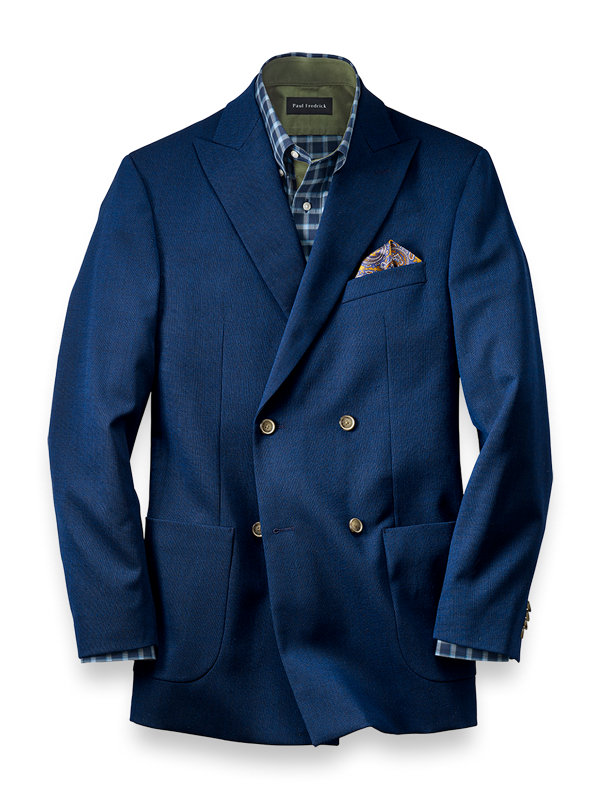 Solid Double Breasted Sport Coat