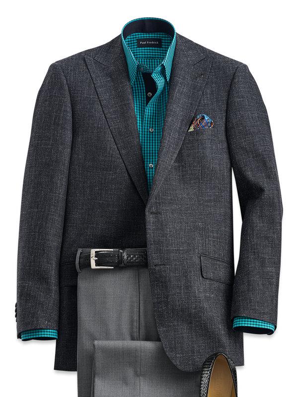 Wool, Silk and Linen Peak Lapel Sport Coat