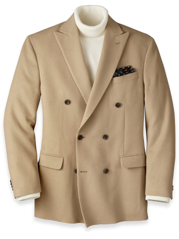 Camel Hair Double Breasted Sport Coat