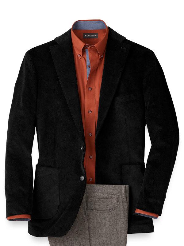 Corduroy Solid Notch Lapel Sport Coat