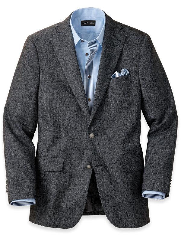 Wool Textured Notch Lapel Sport Coat