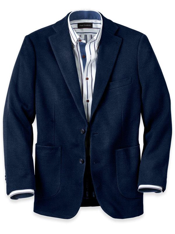 Knit Notch Lapel Sport Coat