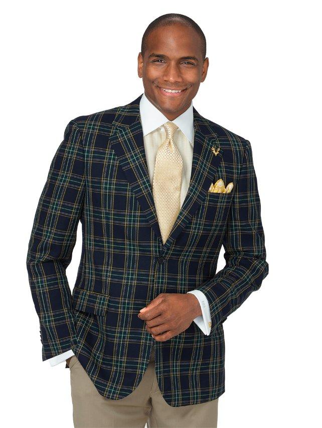 Wool Tartan Plaid Sport Coat