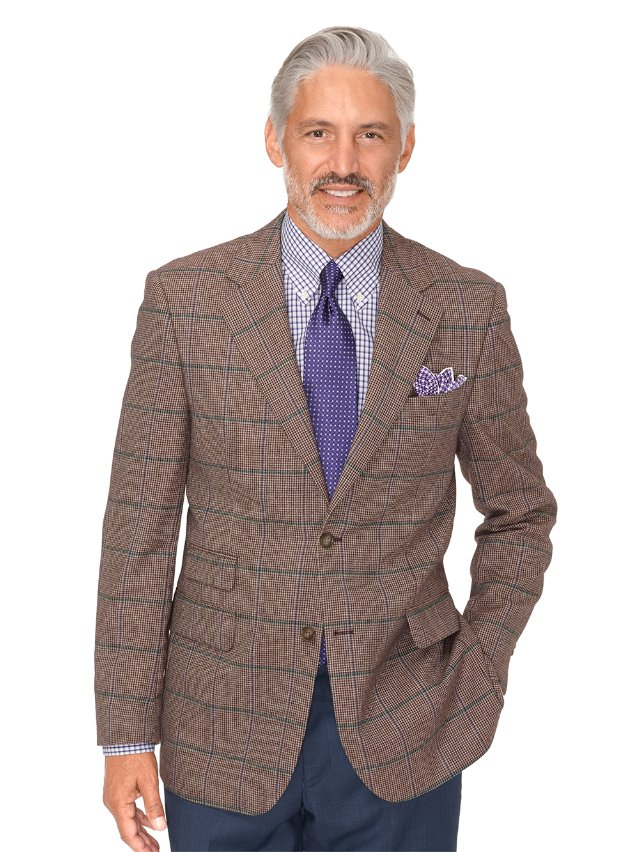 Wool Windowpane Sport Coat