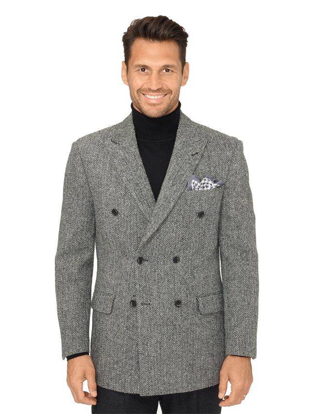 Authentic Harris Tweed Wool Herringbone Sport Coat