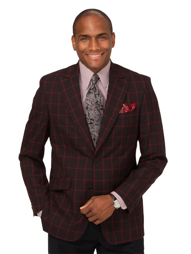 Wool Windowpane Sport Coat
