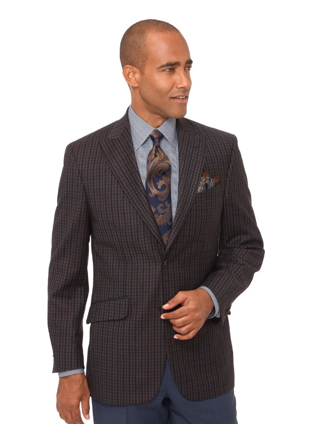 Wool Check Sport Coat