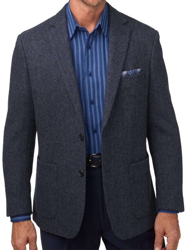 Classic Fit Harris Tweed Notch Lapel Sport Coat