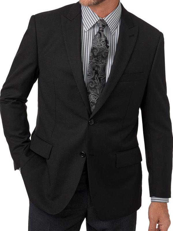 Tailored Fit Wool Diamond Pattern Notch Lapel Sport Coat
