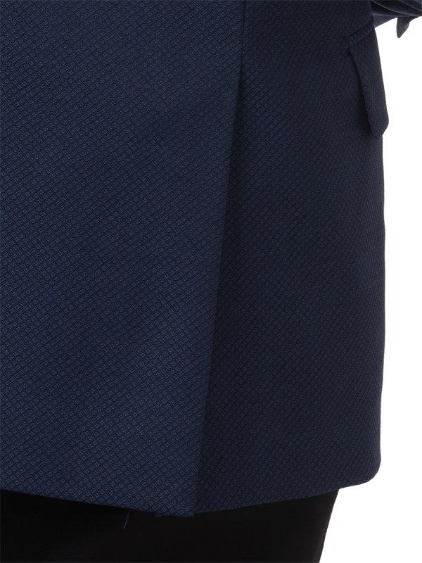 Classic Fit Wool Diamond Pattern Peak Lapel Sport Coat