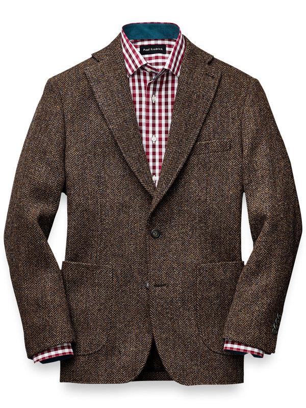 Tailored Fit Harris Tweed Notch Lapel Sport Coat