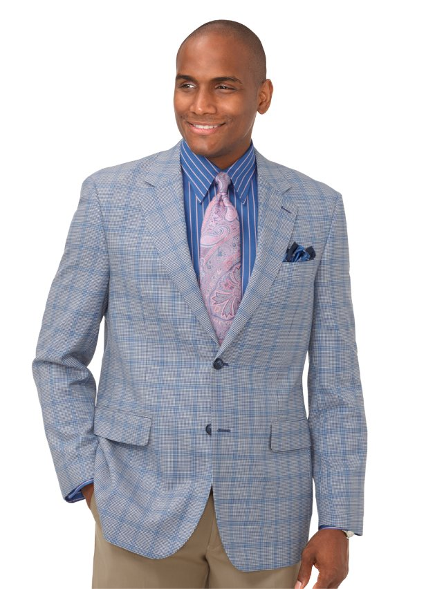 Super 100's Wool Houndstooth Sport Coat