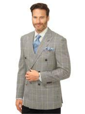 Wool & Silk Windowpane Sport Coat