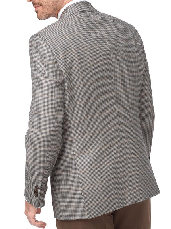 Wool & Linen Check Houndstooth Sport Coat