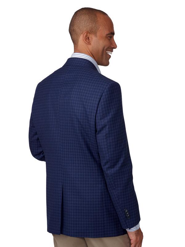 Wool & Cotton Check Sport Coat