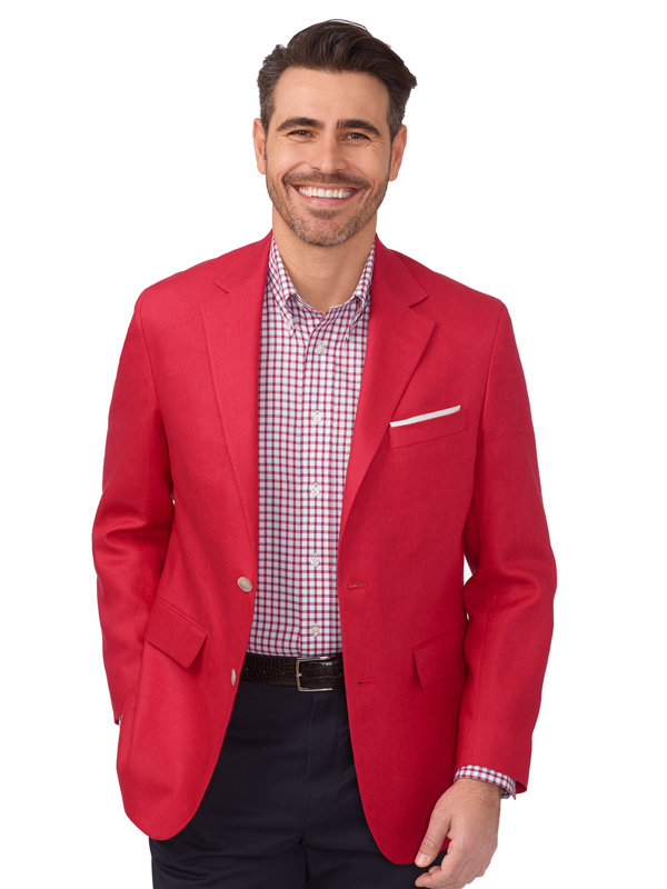 Linen Notch Lapel Sport Coat