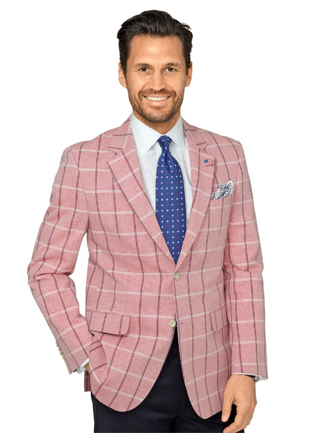 Cotton & Linen Windowpane Sport Coat