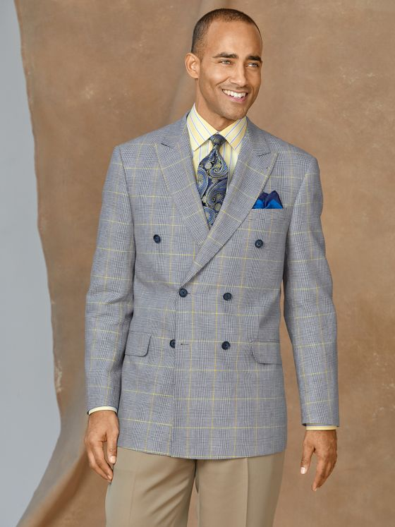 Cotton & Linen Glen Plaid Sport Coat
