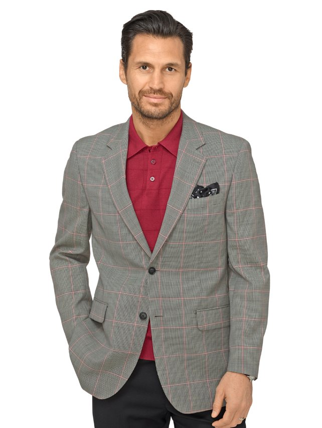 Super 100's Wool Windowpane Sport Coat