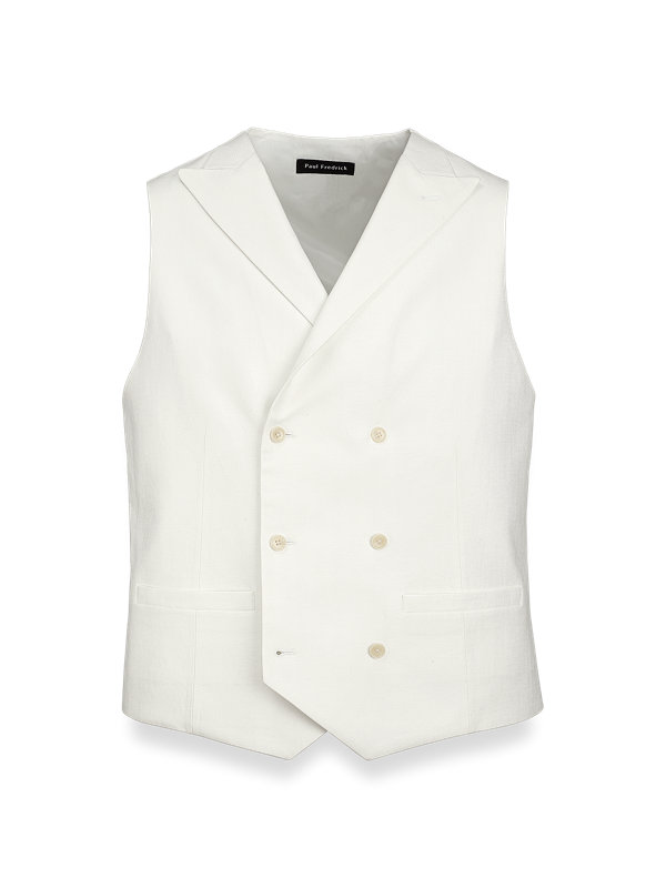 Cotton and Linen Herringbone Vest