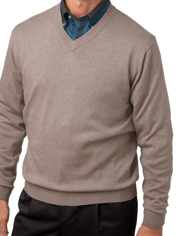 Silk, Cotton and Cashmere V-Neck Sweater