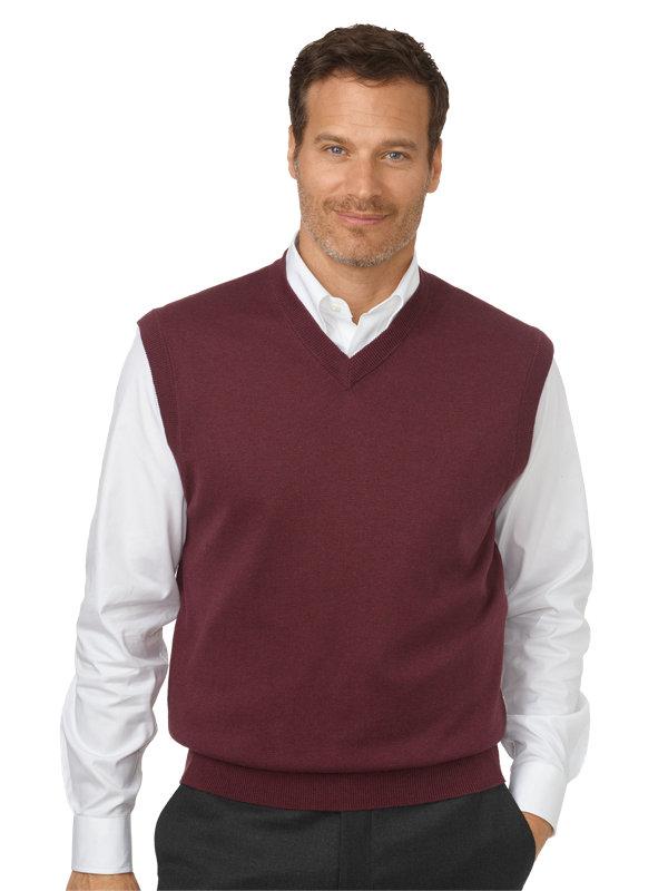 Silk, Cotton & Cashmere V-Neck Pullover Sweater Vest
