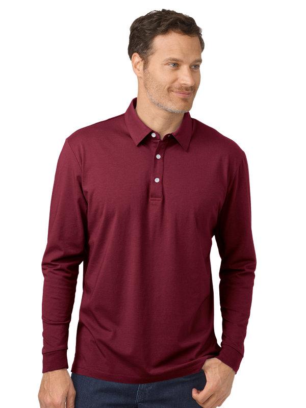 Cotton & Silk Long Sleeve Polo