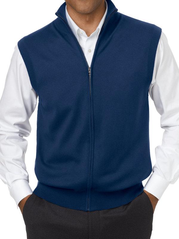 Silk, Cotton and Cashmere Full Zip Vest