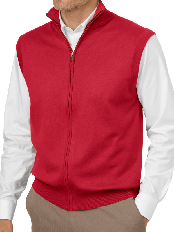 Silk, Cotton and Cashmere Full Zip Vest