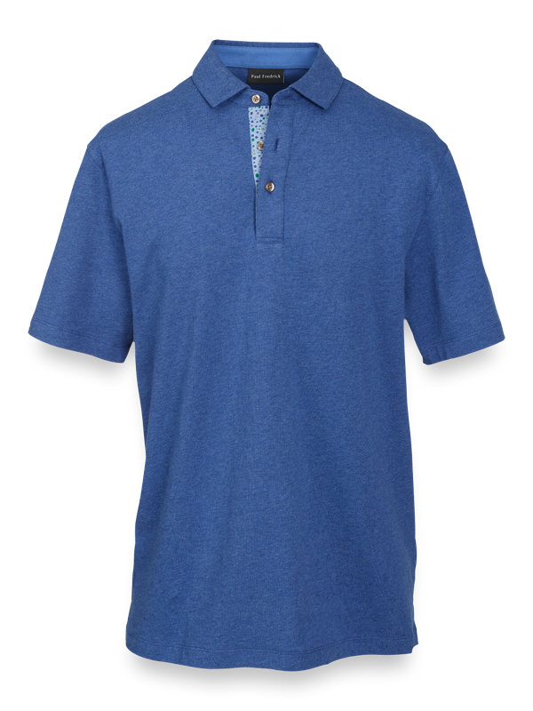 Cotton Short Sleeve Polo with Tipping