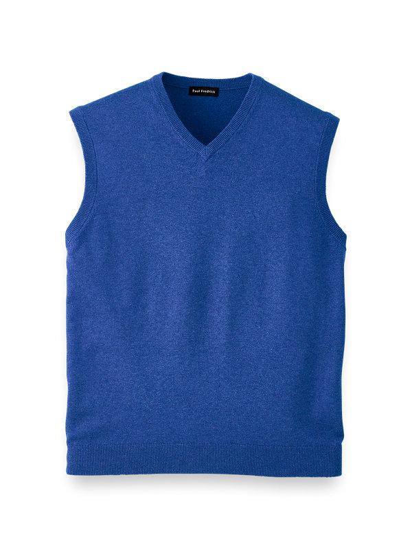 Silk Cotton and Cashmere Pullover Vest