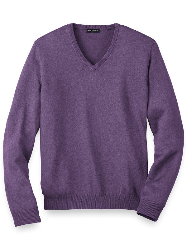 Silk Cotton and Cashmere V-Neck Sweater
