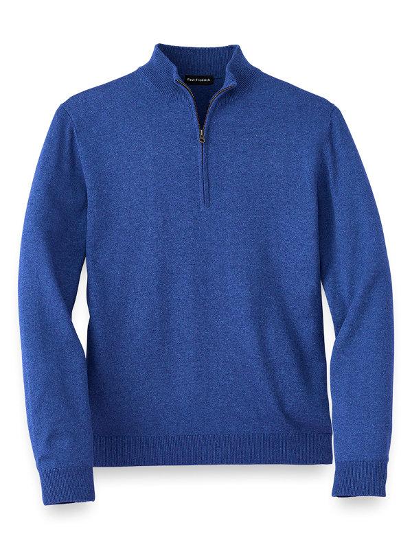 Silk Cotton and Cashmere Half Zip