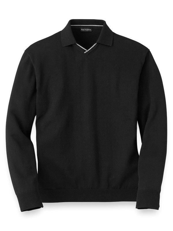 Supima Cotton V-Neck Sweater
