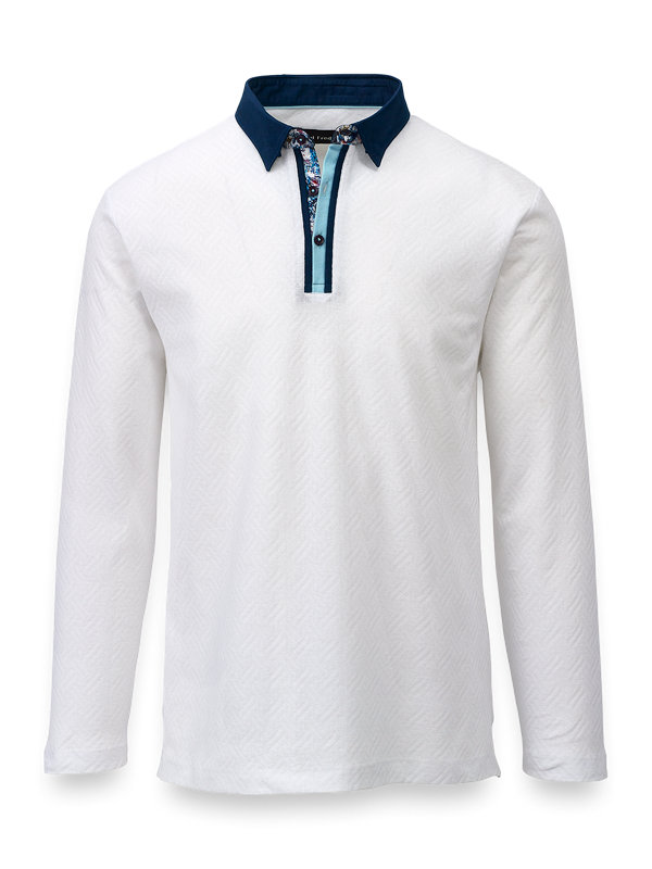 Mercerized Cotton Polo With Tipping