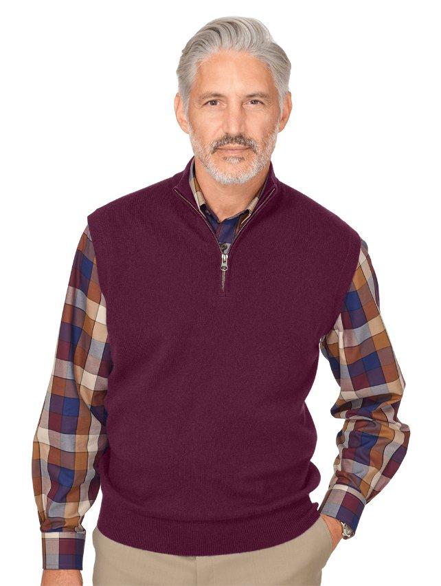 Wool & Cashmere Zip Neck Vest
