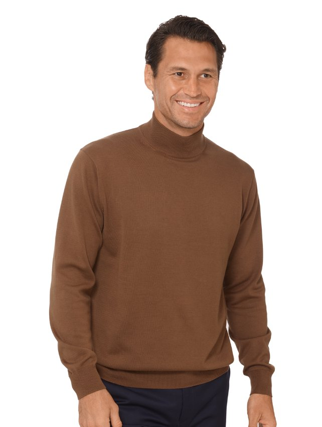 Supima Cotton Mock Neck Sweater