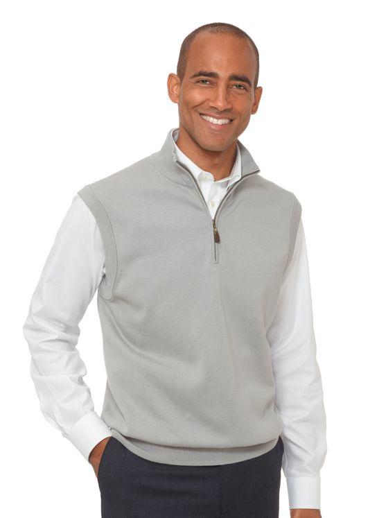Supima Cotton Zip Neck Vest