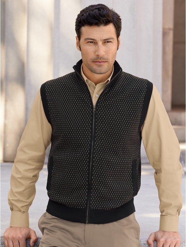 Cotton Birdseye Full Zip Vest
